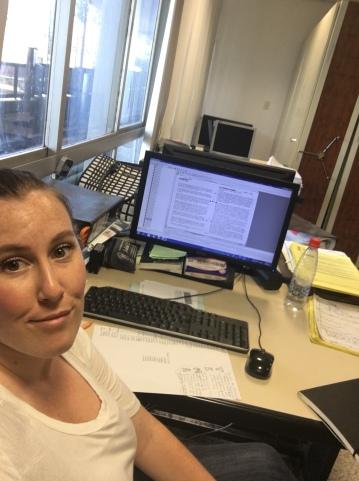 Danielle B. Barefoot - selfie in the archive